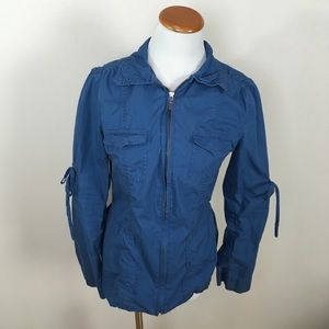 CAbi Ocean Blue Lightweight Utility Jacket #393
